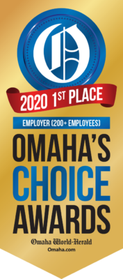 Omaha Choice Awards: 2020 1st Place Employer (200+ Employees)