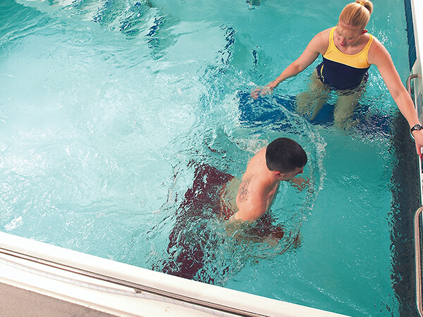 Aquatic Therapy People in Pool