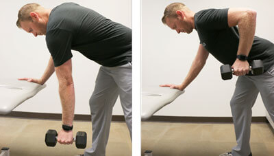 Bent over Row Exercise Demonstration