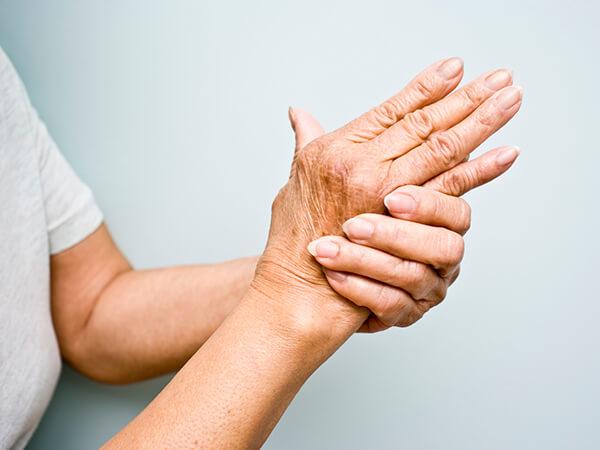 Woman grabbing hand