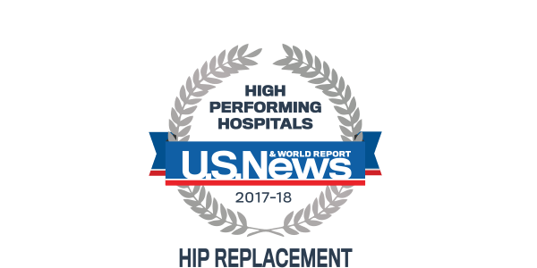 High Performing Hospital - U.S. News and World Report - Hip Replacement