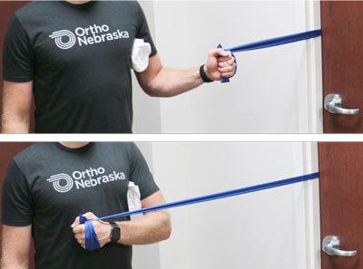 Internal Rotation Exercise Demonstration