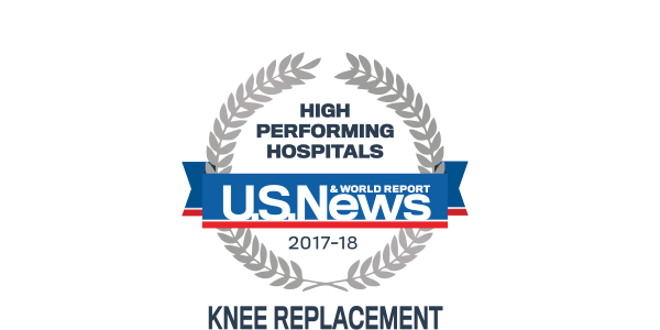 High Performing Hospital - U.S. News and World Report - Knee Replacement