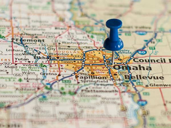 Omaha on Map