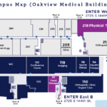 Physical and Hand Therapy Overhead Map