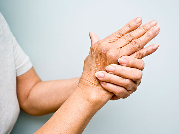 Hand therapy: grasping of hand